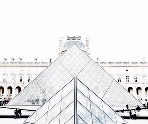 louvre, minimal, and paris image