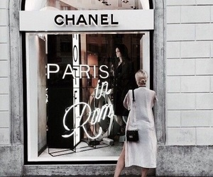 girl, paris, and shops image