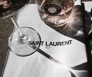 saint laurent, drink, and wine image