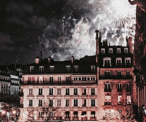 fireworks, night, and architecture image