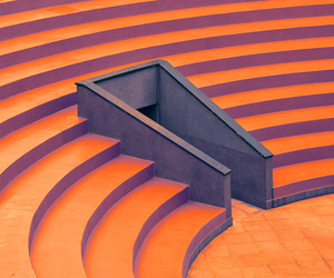 levels, orange, and stairs image