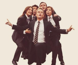 barney, himym, and robin image