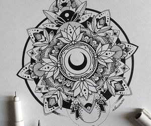 mandala, art, and tattoo image