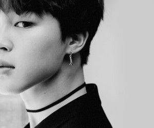 b&w, jimin, and bts image