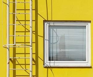 wall, window, and yellow image