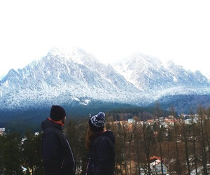 couple, together, and winter image