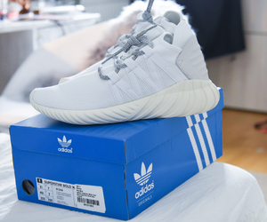 adidas, sneakers, and white sneakers image