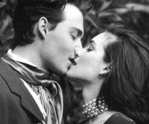 winona ryder, johnny depp, and love image