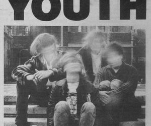 sonic youth, black and white, and music image