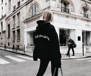 Balenciaga, black, and girl image