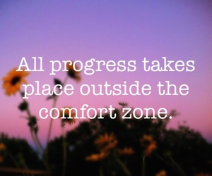 comfort zone, quote, and january image