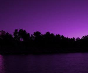 landscape, moon, and purple sky image