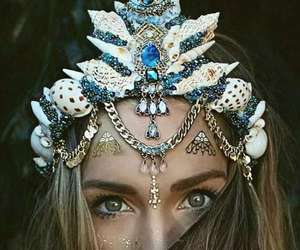 mermaid, crown, and alternative image