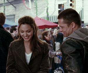 Angelina Jolie, boy, and brad pitt image
