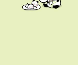 green, kawaii, and panda image