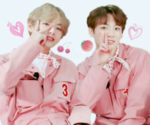pink, bts, and cute image