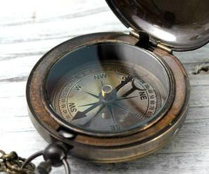 compass, vintage, and direction image