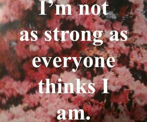 quotes, strong, and flowers image