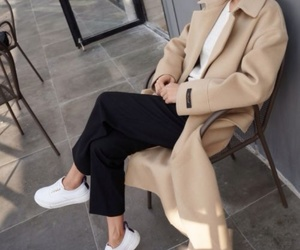 beige, look, and clothes image