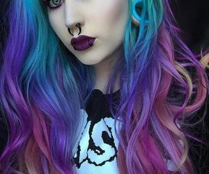 gothic, hair, and piercing image
