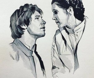 draw, han solo, and leia image