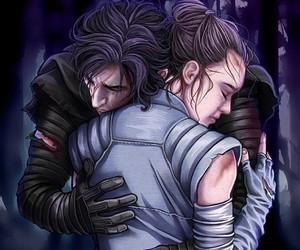 force, hug, and star wars image