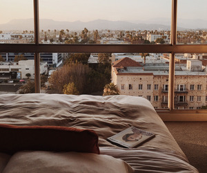 bedroom, view, and bed image
