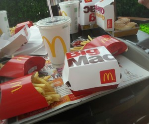fast food, McDonald's, and love image