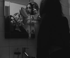 alternative, b&w, and bathroom image