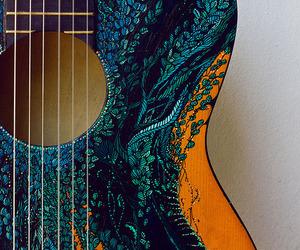 guitar, music, and art image