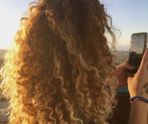 blonde, sun, and sunset image