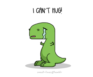 dinosaur and hug image