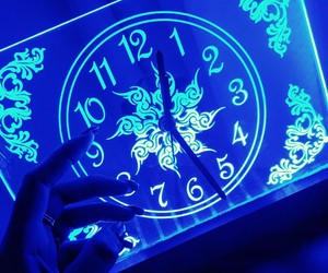 blue, light, and time image