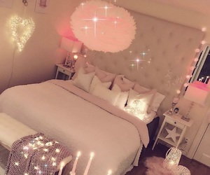 glam, bedroom goals, and pink image