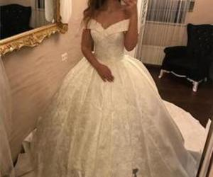 ball gowns, bridal dress, and applique image
