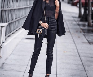 black, casual, and heels image