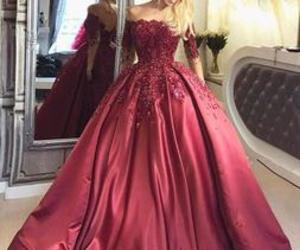 dress, girl, and ball gown image