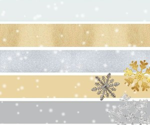 glitter, gold, and snowflake image