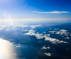 air, blue, and clouds image