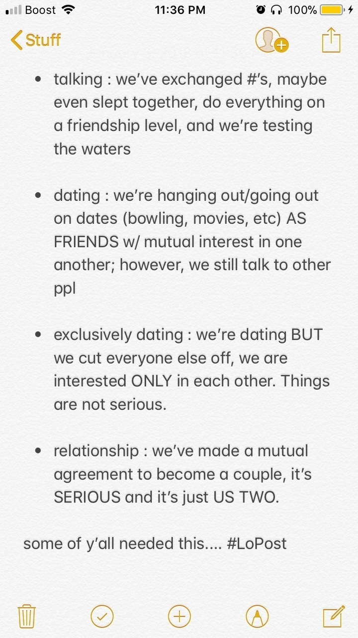 Is dating exclusively a relationship