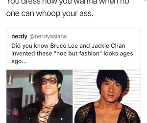 bruce lee, clothes, and jackie chan image