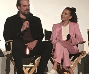eleven, stranger things, and chief hopper image