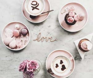 clean, pink, and food image