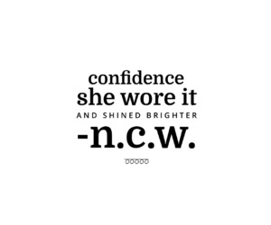confidence, thoughts, and words image