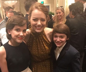 stranger things, millie bobby brown, and emma stone image
