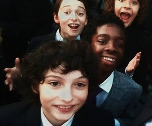 dustin, will, and stranger things image