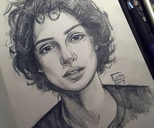 boy, drawing, and finn wolfhard image