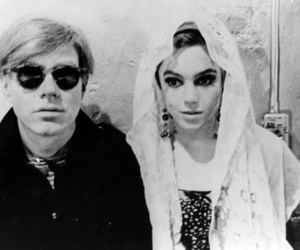 andy warhol, edie sedgwick, and black and white image