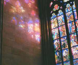 church, window, and light image