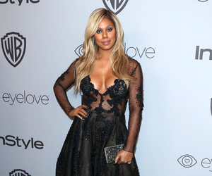 beautiful, laverne cox, and 2018 golden globes image